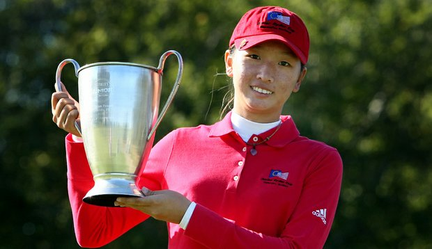 Doris Chen after winning the Golfweek Junior Invitational