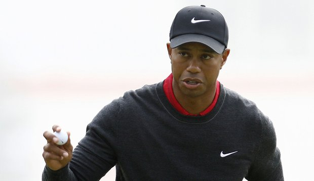 Tiger Woods during the HSBC Champions