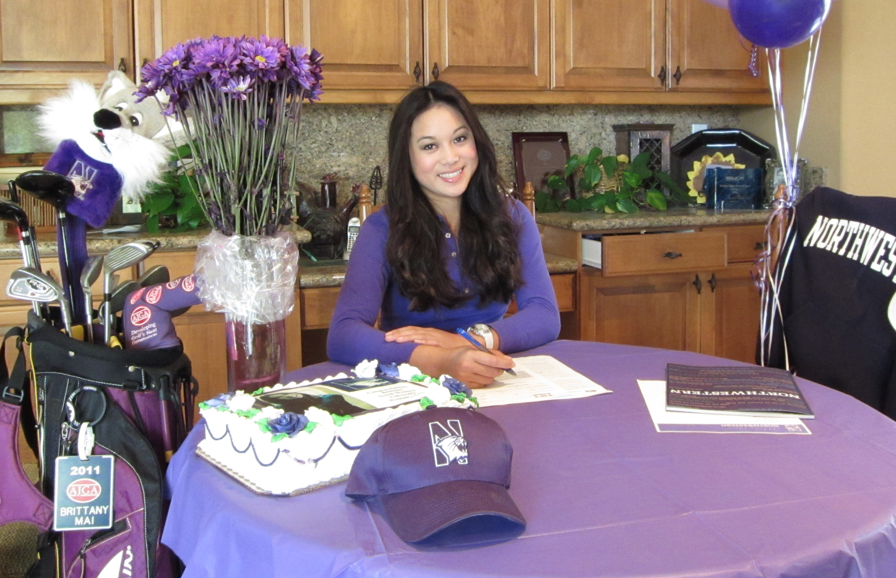 Brittany Mai signed with Northwestern.