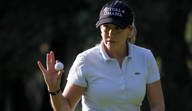 Cristie Kerr put up a tournament-record 64 in the first round of the Lorena Ochoa Invitational.