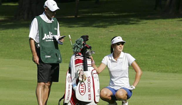Michelle Wie during the first round of the Lorena Ochoa Invitational.
