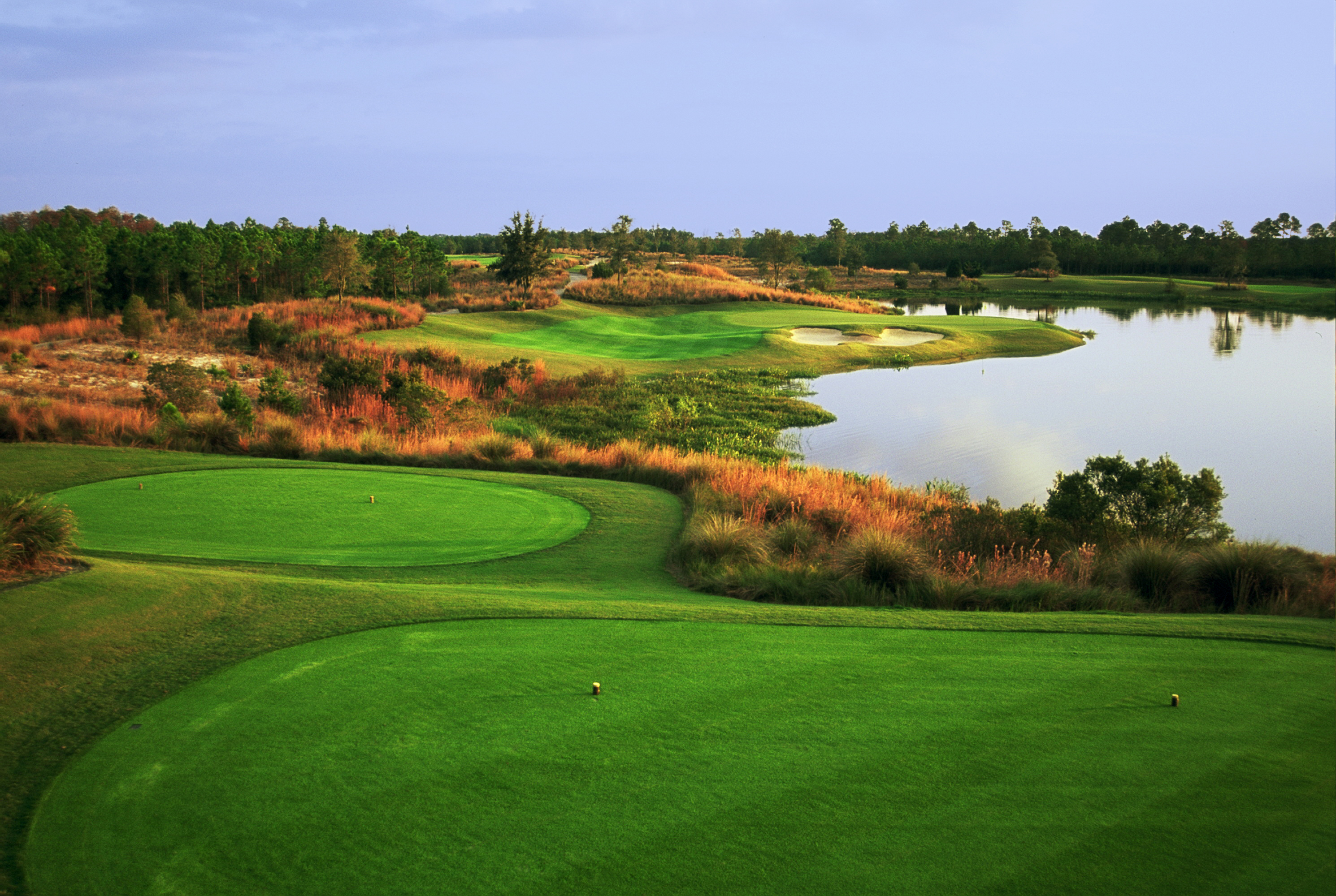 View of the Camp Creek course at WaterColor Inn.