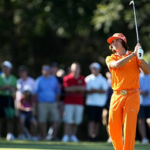Rickie Fowler at No. 17 during the final round.