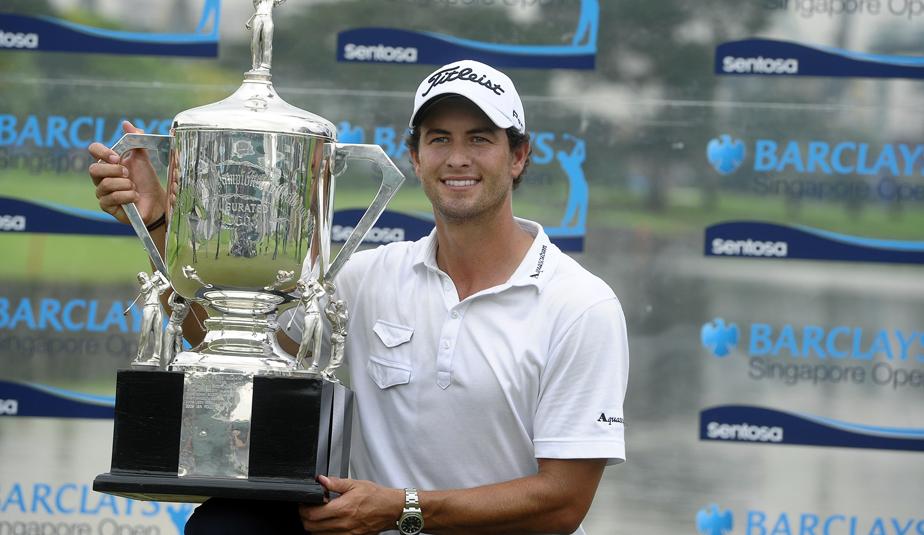 Adam Scott wins the Singapore Open.