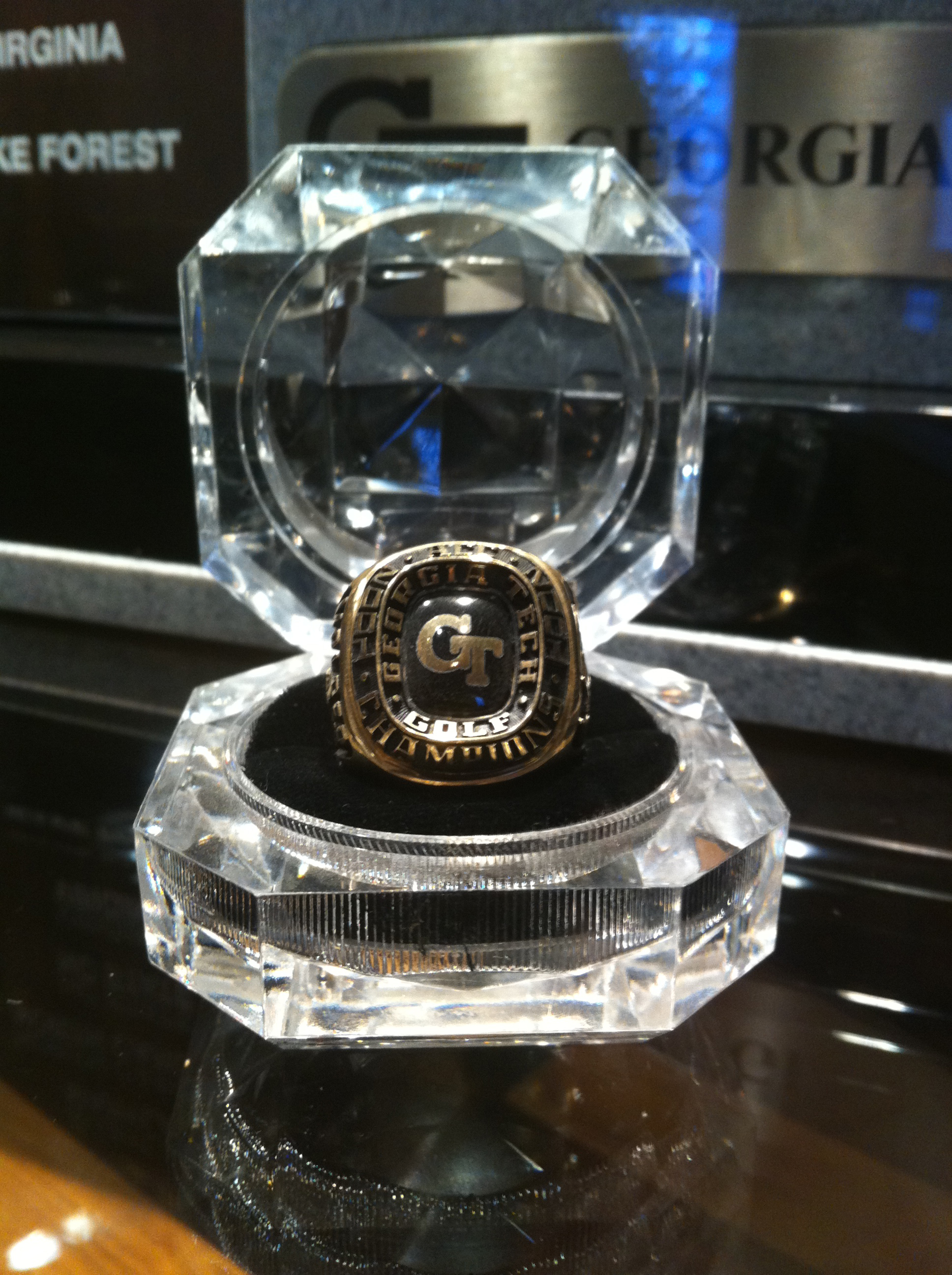 Georgia Tech's 2001 ACC Championship ring