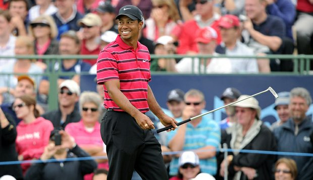 Tiger Woods during the final round of the Australian Masters.