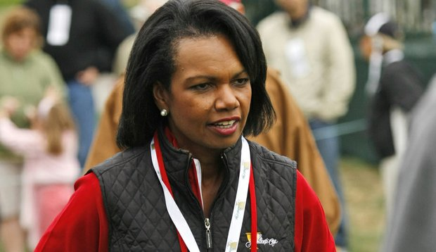 Condoleezza Rice during the 2009 Presidents Cup.