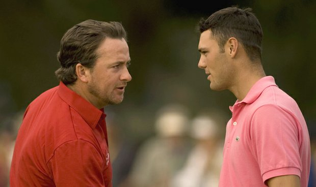 Martin Kaymer and Graeme Mcdowell during the 2010 Andalucia Masters.
