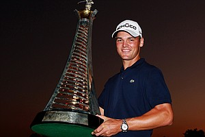Martin Kaymer after winning the 2010 Race to Dubai. Kaymer won four times in 2010 – including the PGA Championship. How high will his stock climb in 2011?