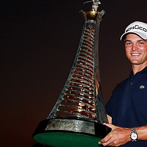 Martin Kaymer after winning the 2010 Race to Dubai. Kaymer won four times in 2010 –including the PGA Championship. How high will his stock climb in 2011?