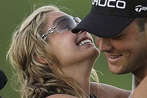 Martin Kaymer and girlfriend Allison Micheletti after he won the 2010 PGA Championship.