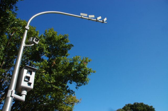 Cameras record travelers who run the red light at the intersection of Maitland Avenue and Marion Way.