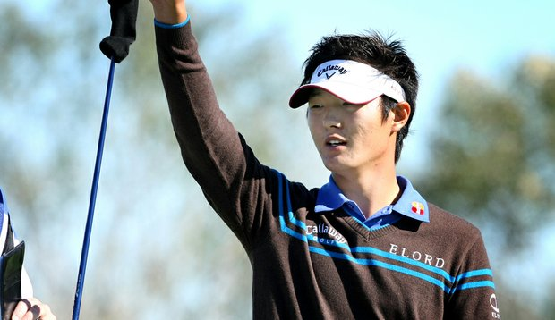 Danny Lee during the first round of PGA Tour Q-School.