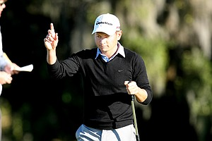 Chris Baryla shot an 11-under to take the lead during Thursday's round. He started the day T65.