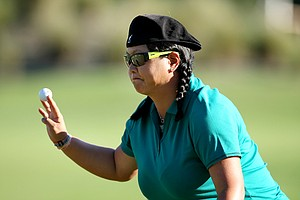 Christina Kim during Saturday's round of the LPGA Tour Championship. Kim is T21.