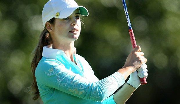 Beatriz Recari during the third round of the 2010 LPGA Tour Championship in Orlando, Fla.