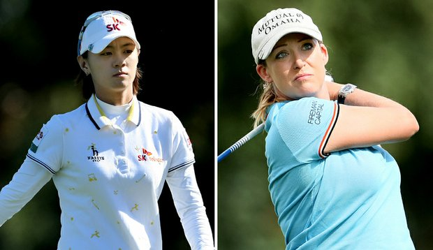 Na Yeon Choi (left) and Cristie Kerr are still in the running for a number of year-end awards this week at Grand Cypress.