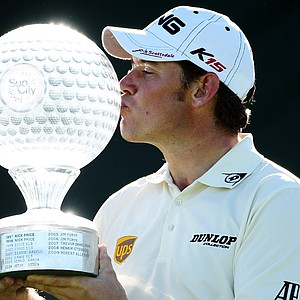Lee Westwood after winning the Nedbank Golf Challenge.