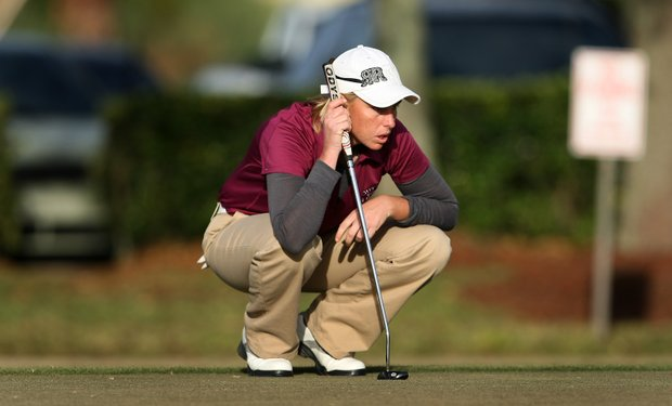 Reilley Rankin shot a 67 to tie for the lead during the first round of LPGA Final Qualifying Tournament.