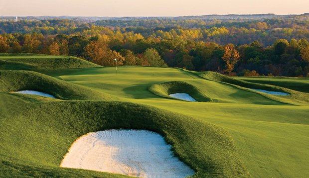 View of the Dye Course at French Lick Resort, ranked No. 5 on the 2010 Golfweek's Best Casino Course list.