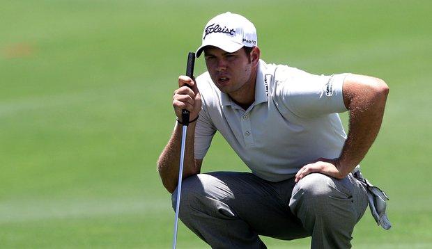 Bobby Gates reads a putt during the Australian PGA.