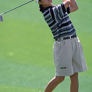 At 13 years old, Aree Song follows her chip shot during the 2000 Kraft Nabisco Championship at the Mission Hills Country Club. At 13, Song finished tied for 10th in her first LPGA major.
