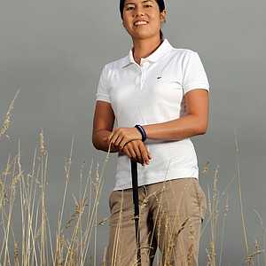 At age 24, Aree Song poses for a portrait before the 2010 Safeway Classic at Pumpkin Ridge Golf Club.