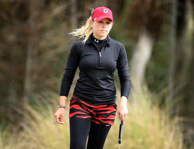 Sara Brown during the final round of LPGA Final Qualifying Tournament at LPGA International in Daytona Beach, FL.