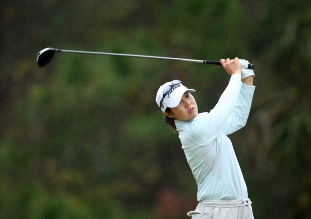 Aree Song at No. 9 on Champions Course. She was the medalist at Qualifying School.