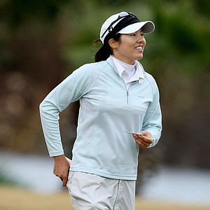 Aree Song after finishing her round as medalist of LPGA Final Qualifying Tournament.