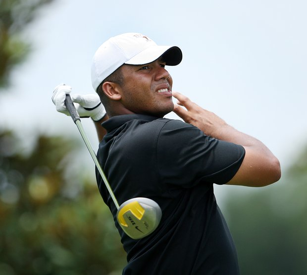 Jhonattan Vegas of Maturin, Venezuela, during round two of the 2008 Southern Amateur Championship at Lake Nona Golf and Country Club in Orlando, FL.