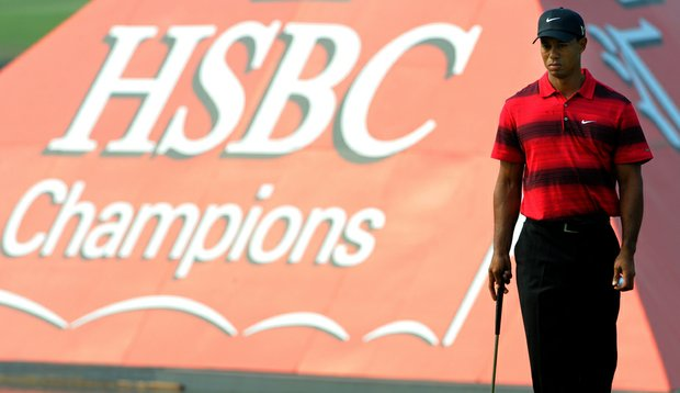 Tiger Woods during the final round of the HSBC Champions.