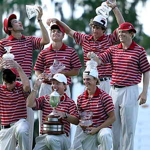 Alabama celebrates its win at the Isleworth Collegiate Invitational. (October 26, 2010)