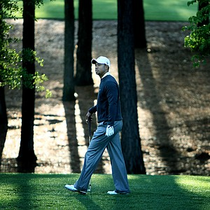 Tiger Woods during Wednesday's Pro Am at the Quail Hollow Championship at Quail Hollow Club in Charlotte in April, 2010.