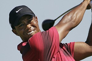 Tiger Woods during the PGA Championship at Whistling Straits.