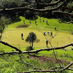 The 10th green is pictured during the first round of the Africa Open at East London GC on January 6, 2011 in East London, South Africa.
