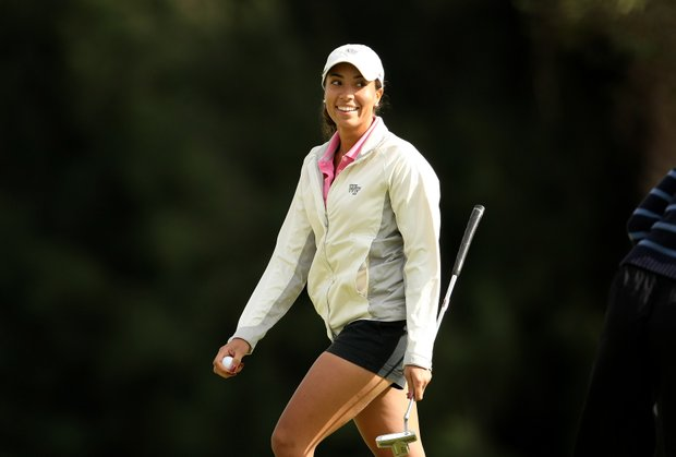 Cheyenne Woods during the third round of the Harder Hall Invitational.