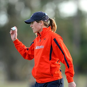 Auburn senior Cydney Clanton made eagle at No. 17 during the third round.
