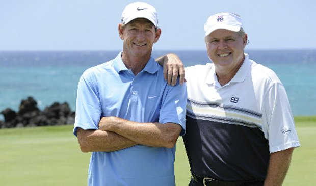 "Hank Haney, left, and his newest pupil, Rush Limbaugh. The two will appear in Season 3 of ""The Haney Project"" on Golf Channel."
