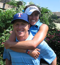 Tour professionals Martin Piller and Gerina Mendoza were recently married.