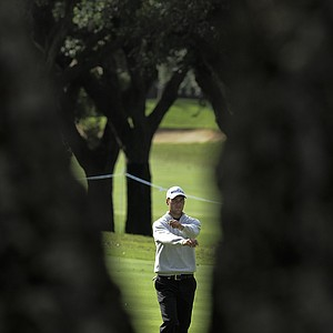 Martin Kaymer from Germany during the fourth round of the Volvo Masters golf tournament in Sotogrande, Spain, Sunday Oct. 31, 2010.