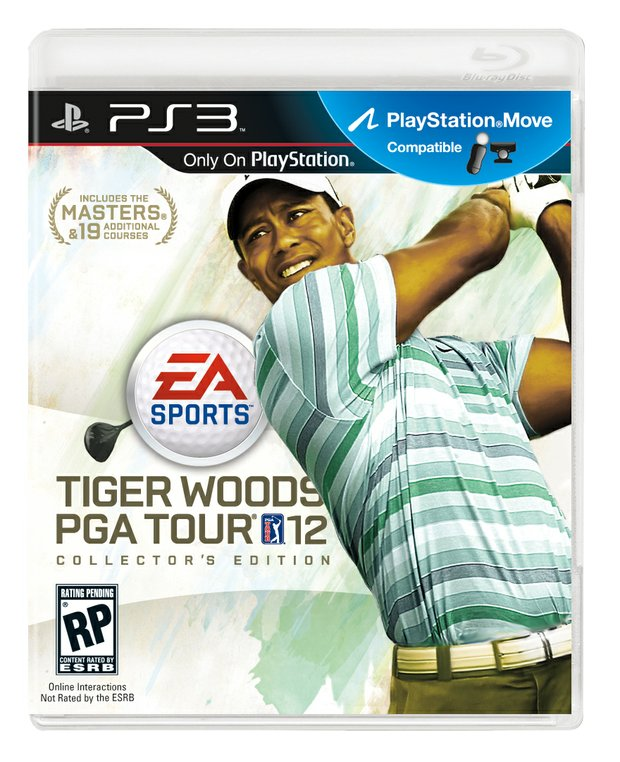 "View of the PS3 copy of the upcoming EA Sports game ""Tiger Woods 12: The Masters."""