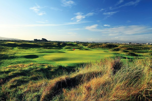 The par-3 seventh hole at Portmarnock.