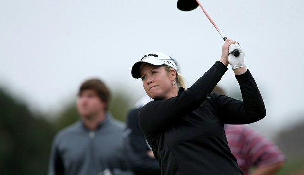 Brittany Lincicome during the opening round of a Hooters Tour Winter Series event at Deer Island.