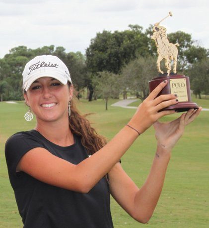 Jaye Marie Green after winning the Polo Junior Golf Classic.
