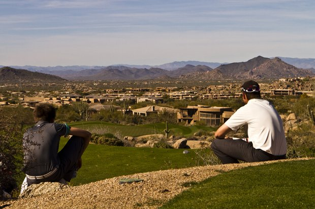 View of Troon North's Monument Course in Scottsdale, Ariz.