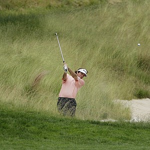 Bubba Watson chips out of a bunker on the fifth fairway during the final round of the U.S. Open Golf Championship at Bethpage State Park's Black Course in Farmingdale, N.Y., Monday, June 22, 2009.
