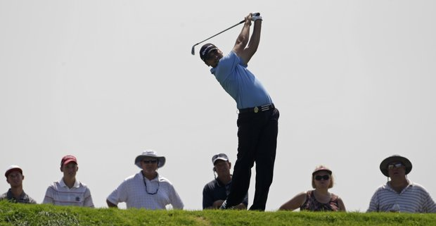 Jason Day of Australia hits a drive on the sixth hole during the first round of the PGA Championship golf tournament Thursday, Aug. 12, 2010, at Whistling Straits in Haven, Wis.