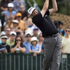 Steve Marino tees off on the first hole during the final round of the Sony Open golf tournament, Sunday, Jan. 16, 2011, in Honolulu.