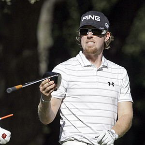 Hunter Mahan walking off the sixth tee during the Pro-Am round of the Chevron World Challenge at Sherwood Country Club in Thousand Oaks, Calif., Dec. 1, 2010.